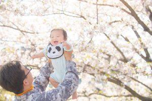 桜,家族写真