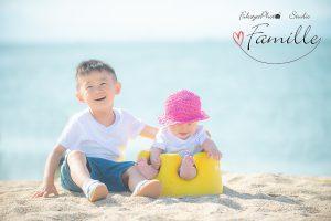家族写真,海,ロケーションフォト