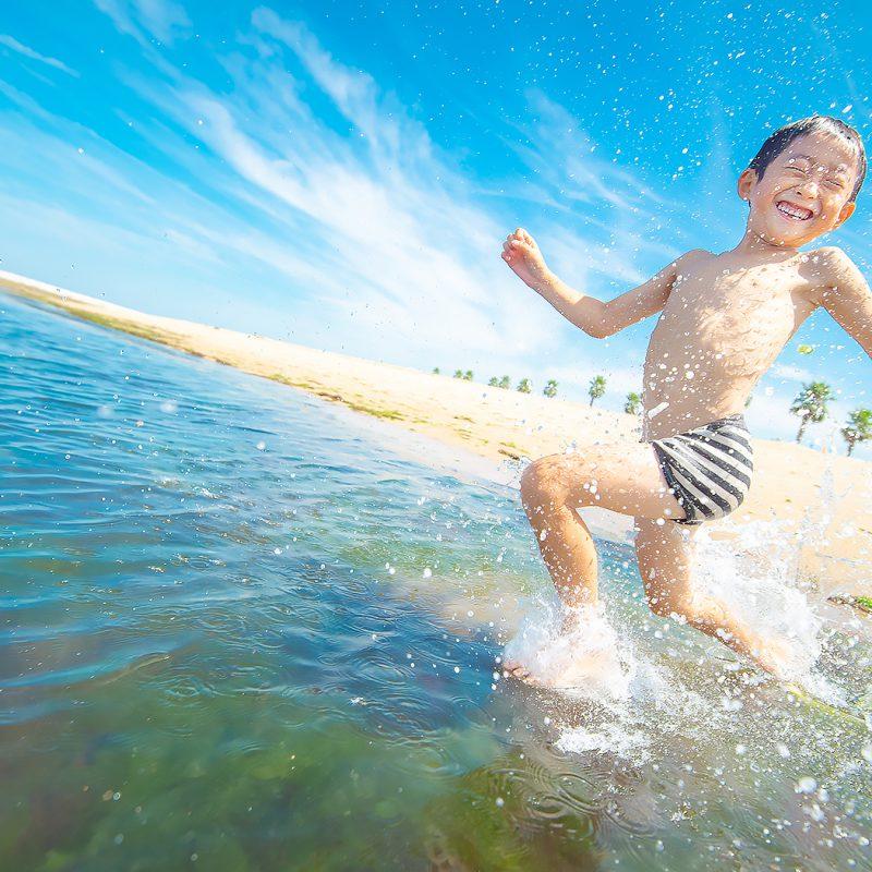 兄妹 家族写真 海フォト キャンペーン