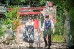 お宮参り 家族写真 記念写真