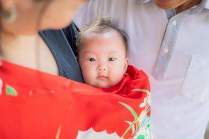 赤ちゃん お宮参り 家族写真