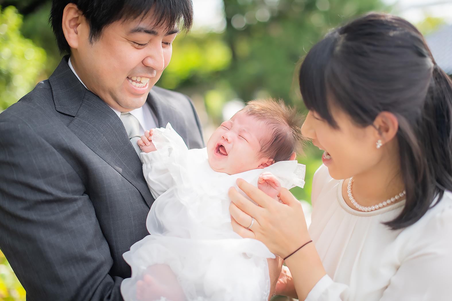 お宮参り 赤ちゃん ロケーションフォト