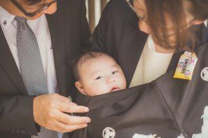 お宮参り 赤ちゃん 家族写真
