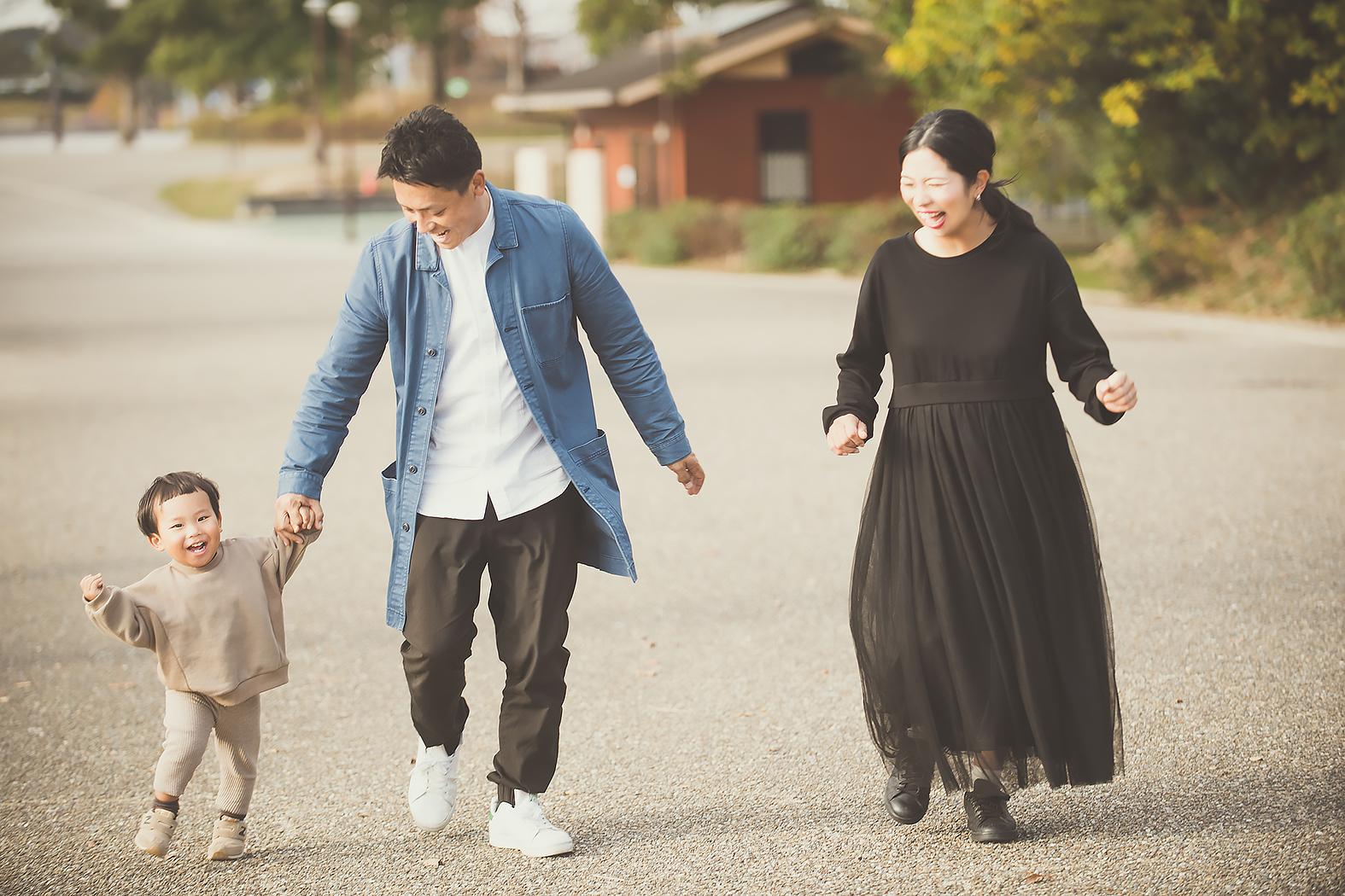 紅葉 マタニティフォト 家族写真