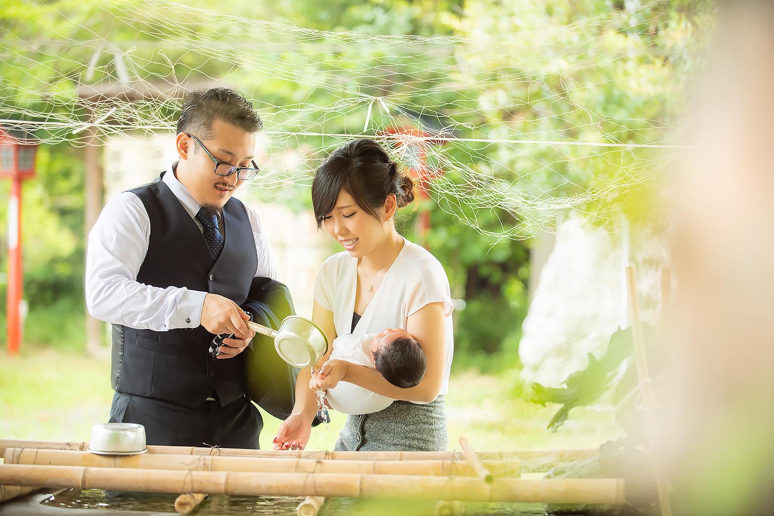 赤ちゃん写真 お宮参り 記念写真