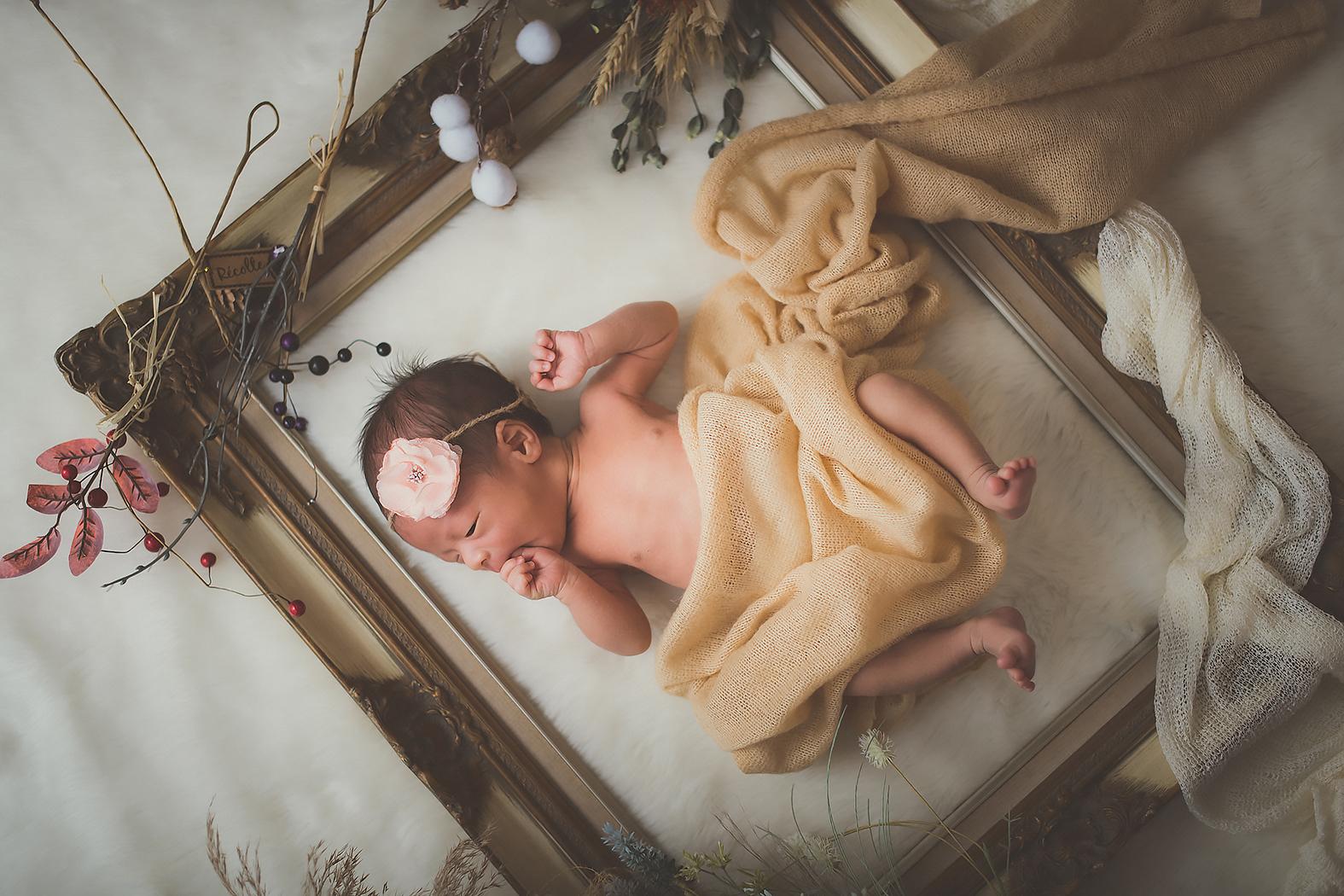 赤ちゃん 新生児 ニューボーンフォト