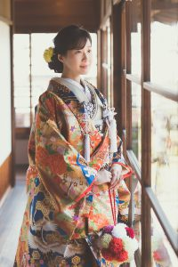 結婚式前撮り,和装,ロケーションフォト