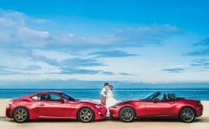 結婚式前撮り ウェディングフォト 海ロケーション